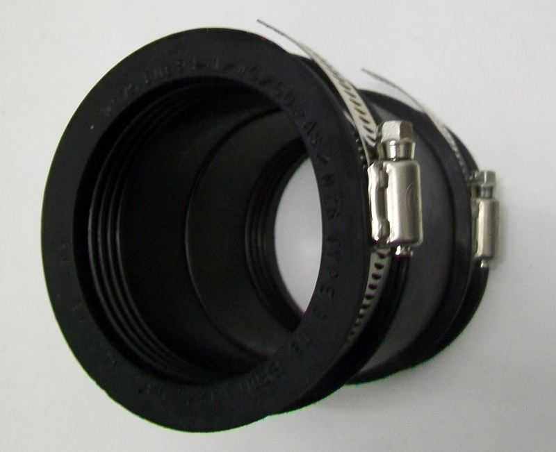 Flexible Rubber Downpipe Connector 60mm 75mm 54000380
